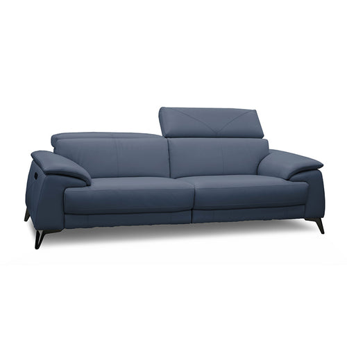 modern sunflower blue grey leather sofa with adjustable headrests