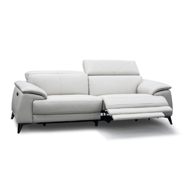 platinum grey modern fabric reclining sectional with USB port