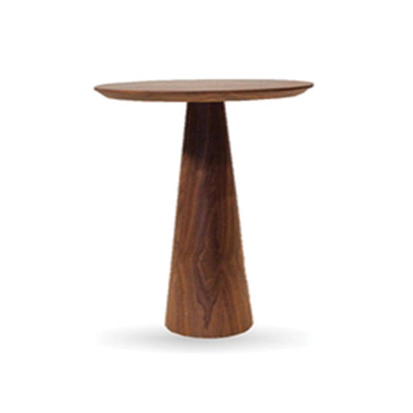 Walnut Pedestal End Table Medium