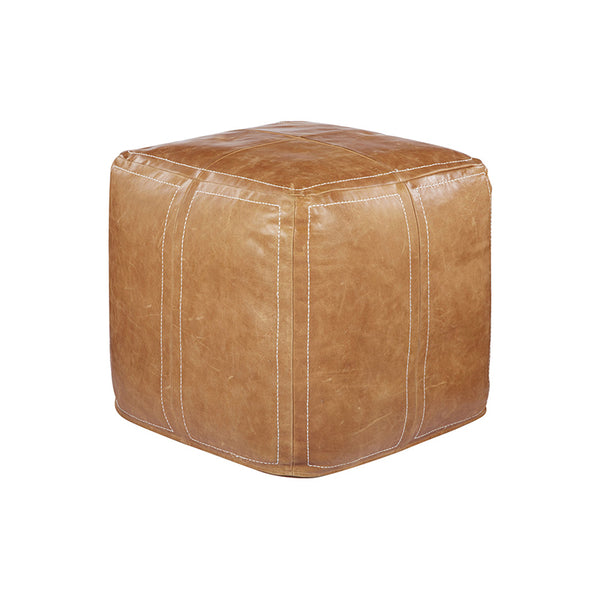 Ultra Leather Pouf