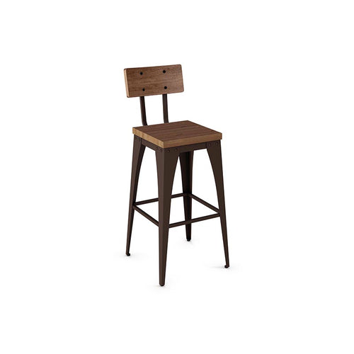 Upright Counter Stool - Wood Seat