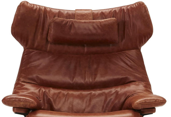 Wing Back King Arm Chair and Ottoman