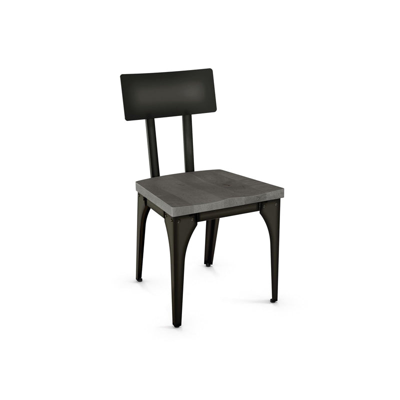 Picture of Architect Wood Dining Chair - Metal Back