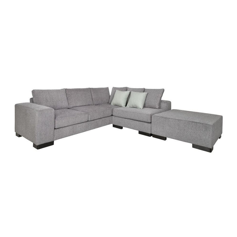 Grey modern fabric sectional