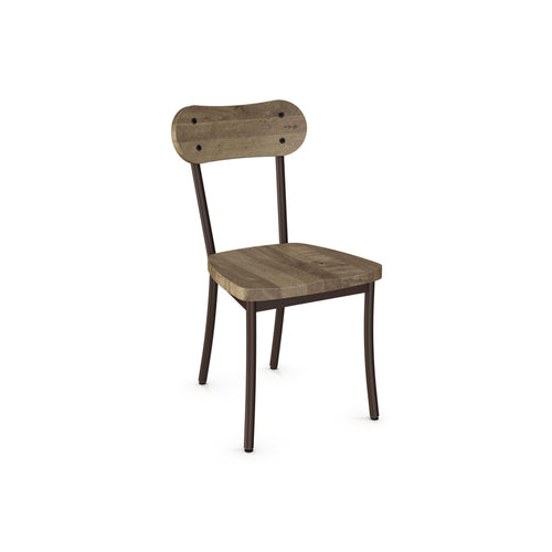 wooden modern dining chair with steel frame