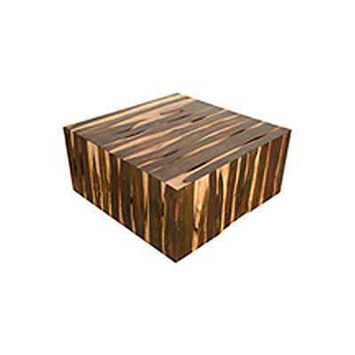 Modern solid sonokeling rosewood block coffee table