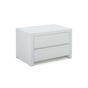 White gloss modern night table
