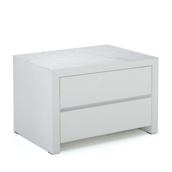 Ceramic Top in Carrara Marble finish for Night Stand