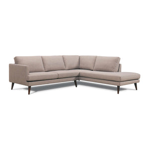Dark grey modern fabric sectional, right hand facing