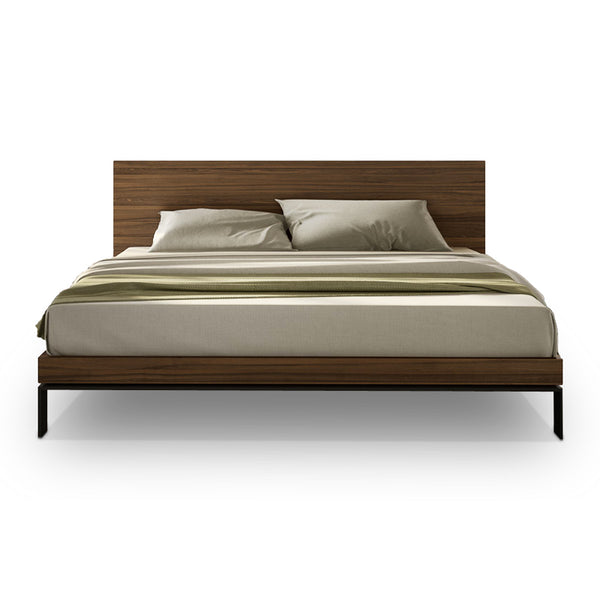Wood modern queen platform bed