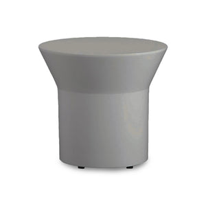 White Gloss Modern Round End Table