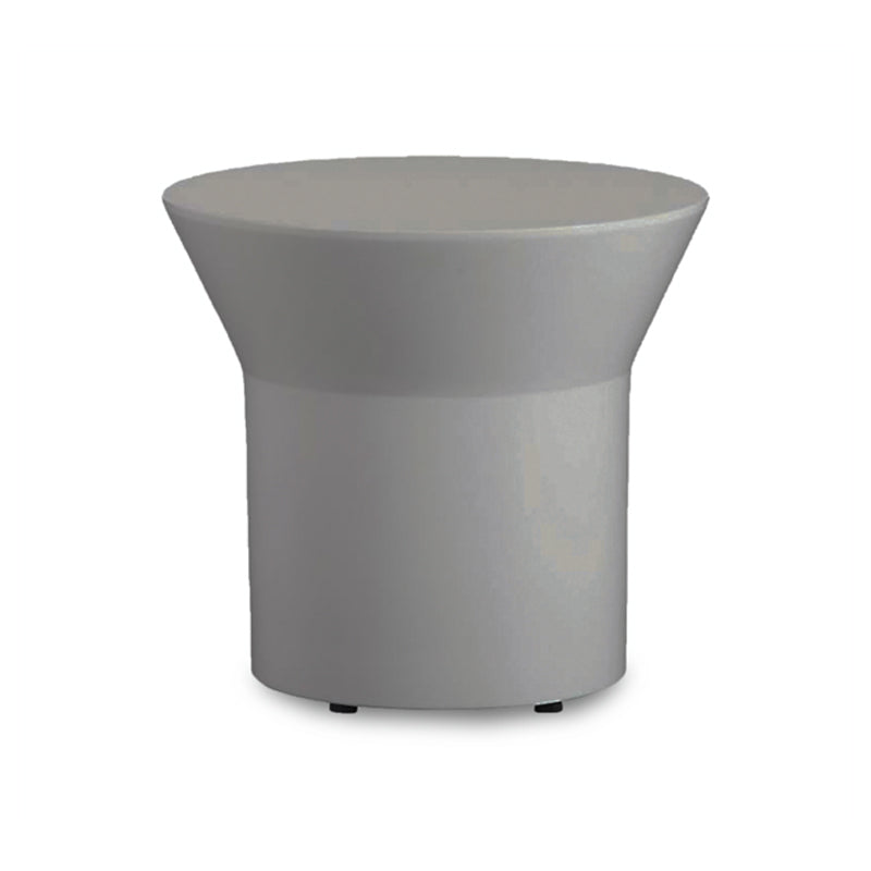 Grey Gloss Modern Round End Table