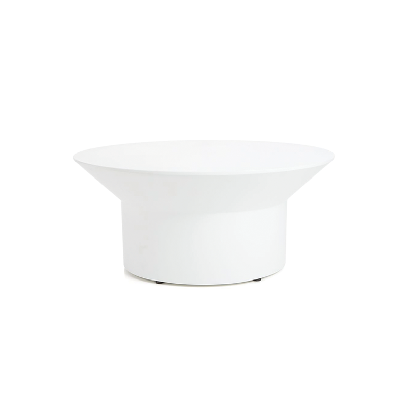 White Gloss Modern Round Coffee Table