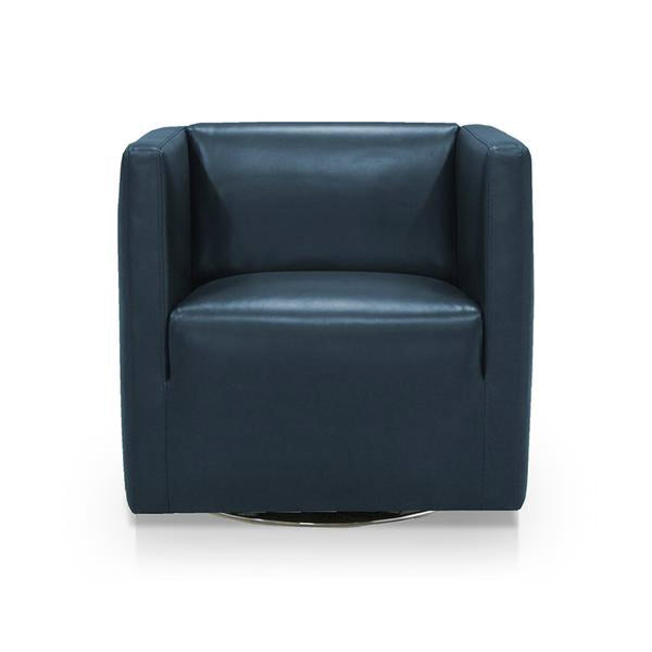 Picture of Charamel Leather Swivel Chair - Dark Denim or Cocoa