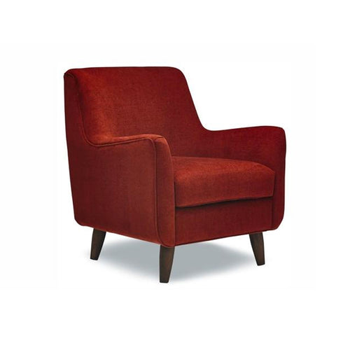 Red Modern fabric arm chair