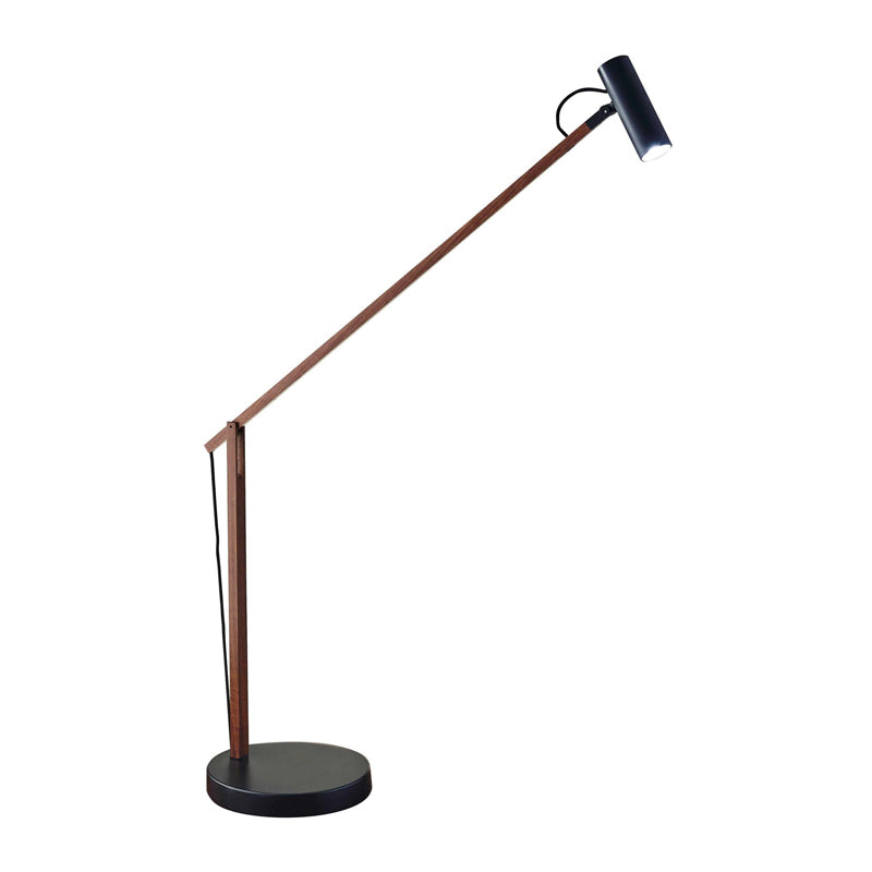walnut modern desk lamp
