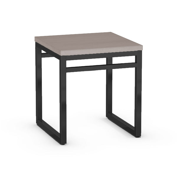Modern Custom Order Square End Table with Solid Wood Top and Metal Base