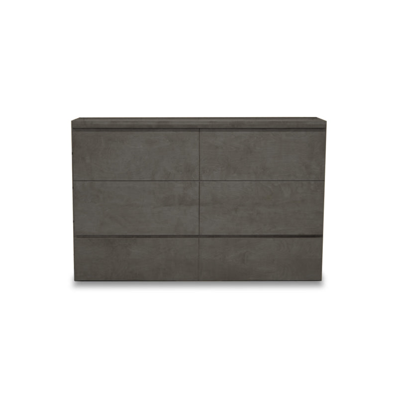 Grey modern wood cabinet bed, with bed set up