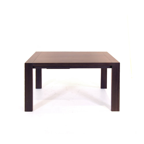 Walnut modern extendable dining table