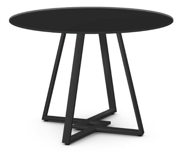 Dirk Dining Table - Black Glass