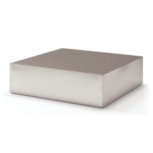 Rectangular brushed modern steel coffee table