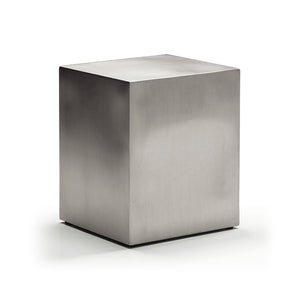 Modern Stainless Steel End Table