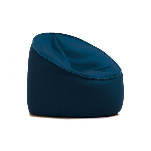 Dark blue modern fabric bean bag chair