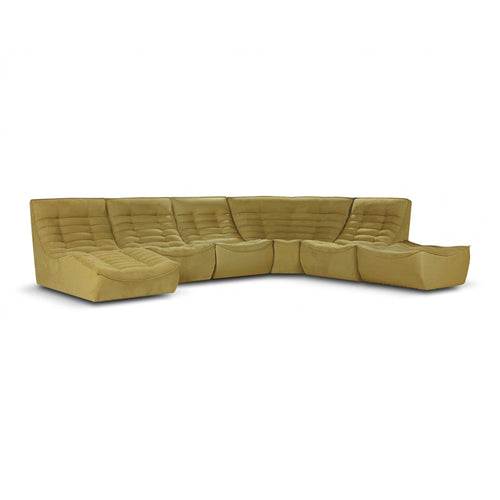 Yellow modern Italian modular sectional