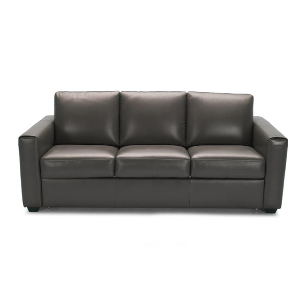 Light grey modern leather sofa bed