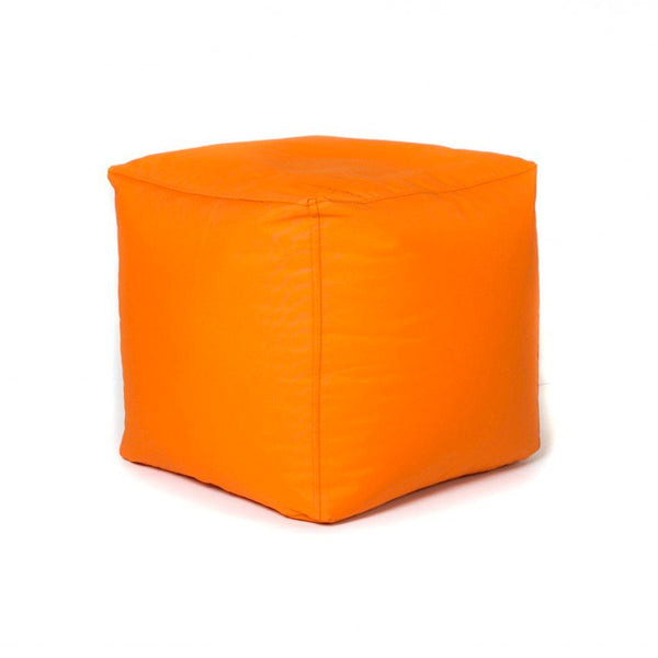 Orange modern fabric multipurpose cube
