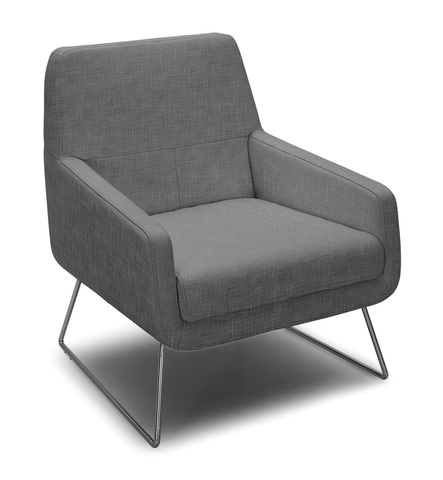Grey modern fabric arm chair