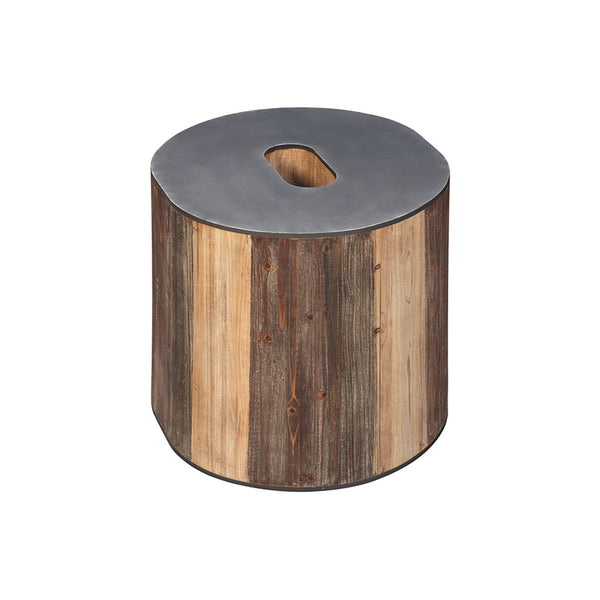 Ampersand shaped modern wood and metal accent table