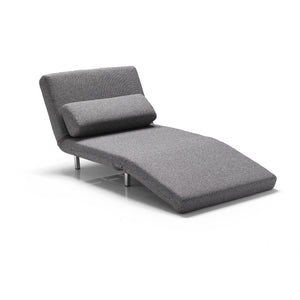 Grey tweed modern fabric transforming chair
