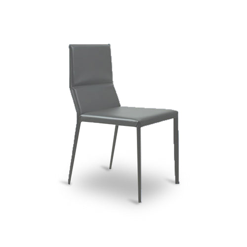 Grey modern leather dining chair