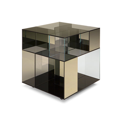 Labirinto End Table Bronze Tall