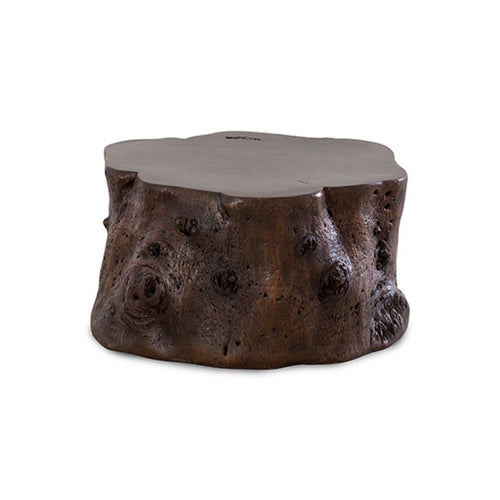 Modern bronze coffee table tree trunk