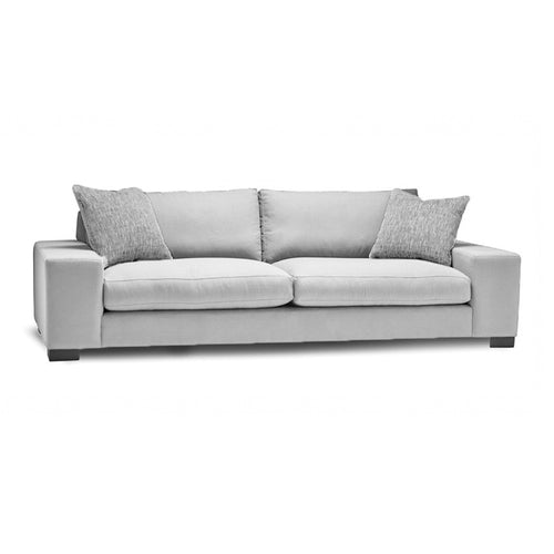 Light grey modern fabric sofa with dark legs