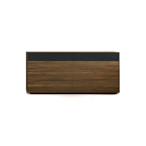 walnut modern double dresser