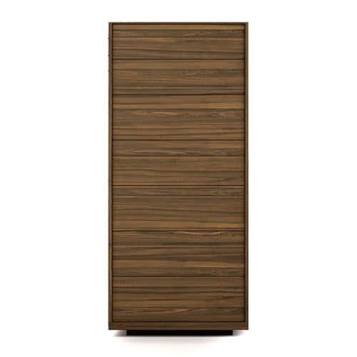 walnut modern chest of drawers