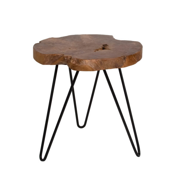 Picture of Natura Hairpin Round Accent Table