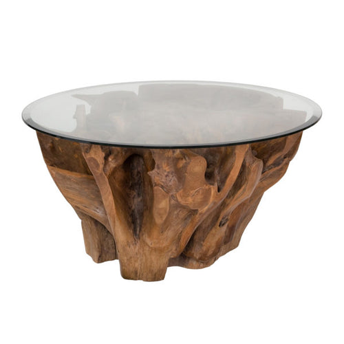Natura Round Root Coffee Table - Condo Size