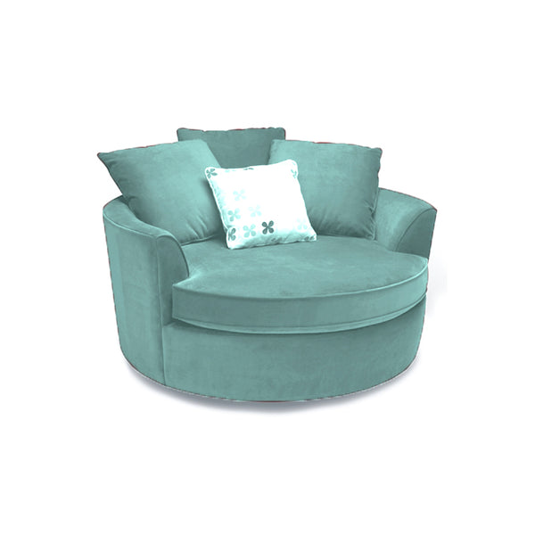 turquoise modern fabric arm chair