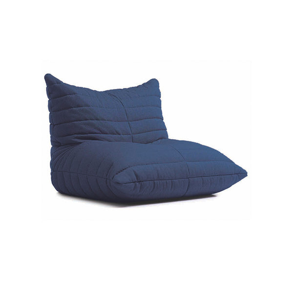Dark Blue Adult Size Fabric Bean Bag Chair