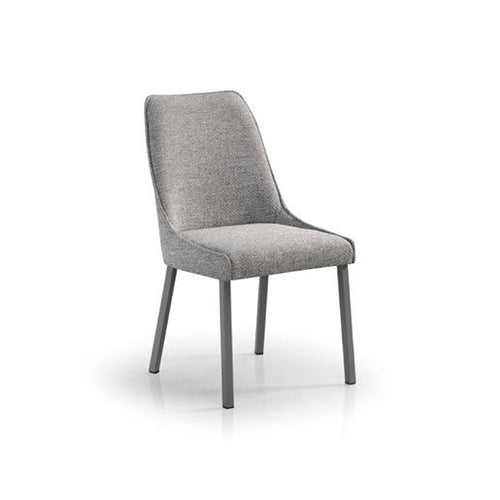 modern grey upholstered dining chair with metal leg for custom order