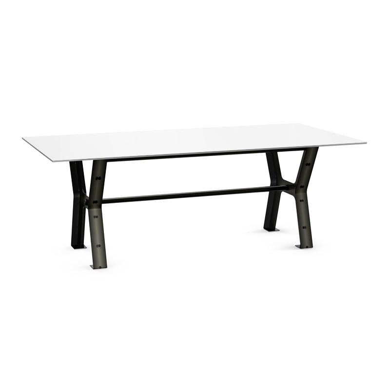 Picture of Parade Dining Table - Black or White Glass - 72""
