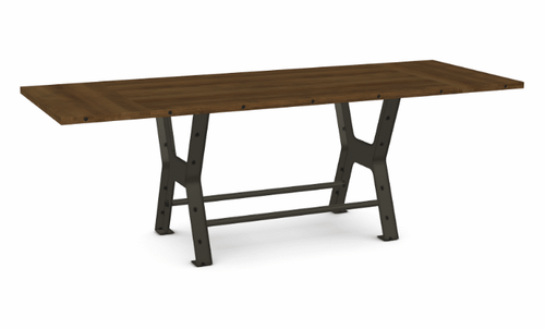 "Parade Counter Table - Distressed Birch - 72"" w/ 2 Leaves"