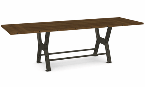 "Parade Counter Table - Distressed Birch - 84"" w/ 2 Leaves"