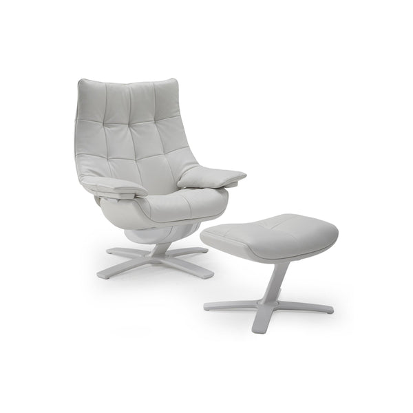 Quilted Queen Reclining Chair and Ottoman