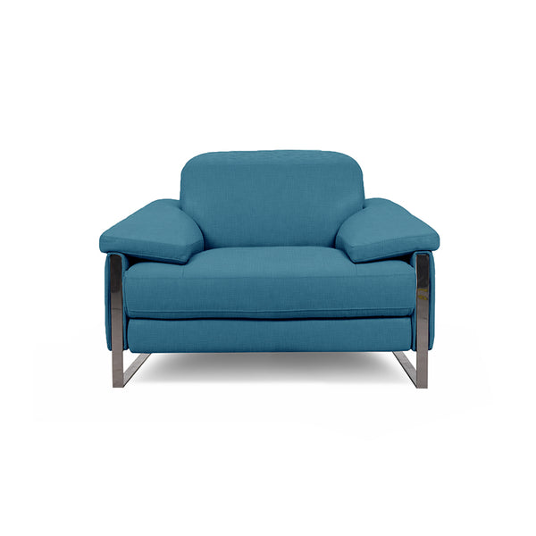modern turquoise fabric power reclining chair with USB port