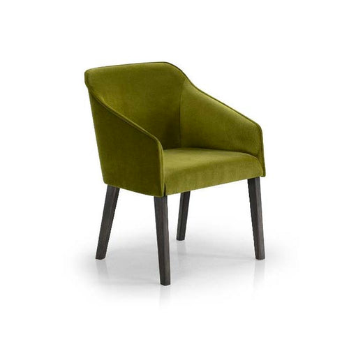 Olive green modern upholstered with metal legs
